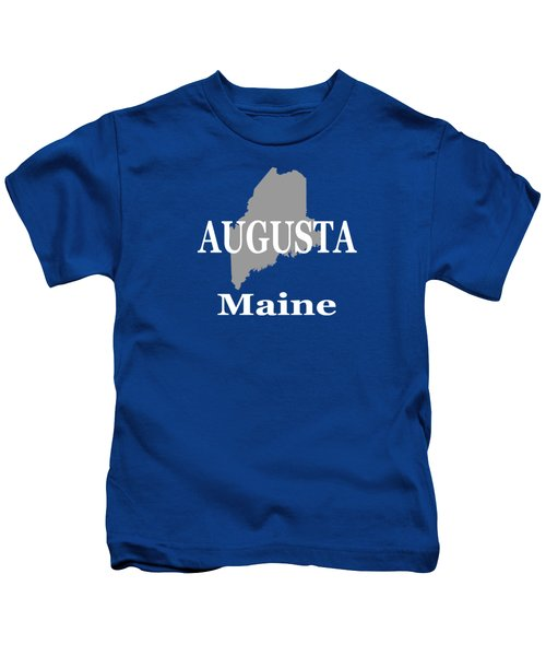 Augusta Maine City And Town Pride  Kids T-Shirt