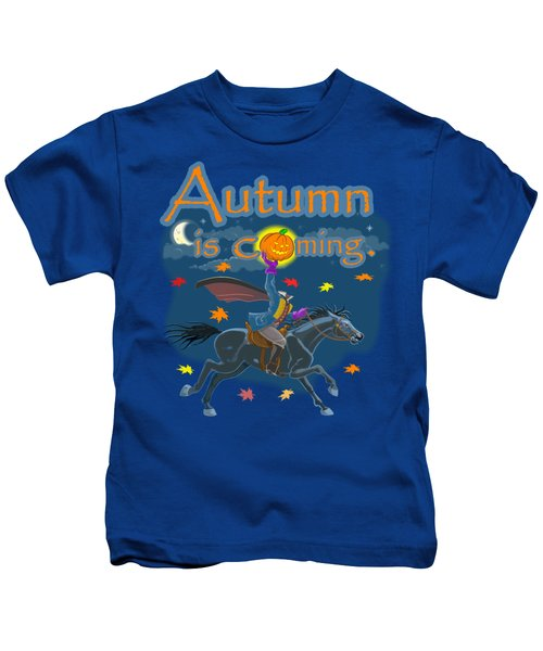 Autumn Is Coming Kids T-Shirt