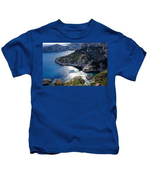 Azure Calanques Kids T-Shirt