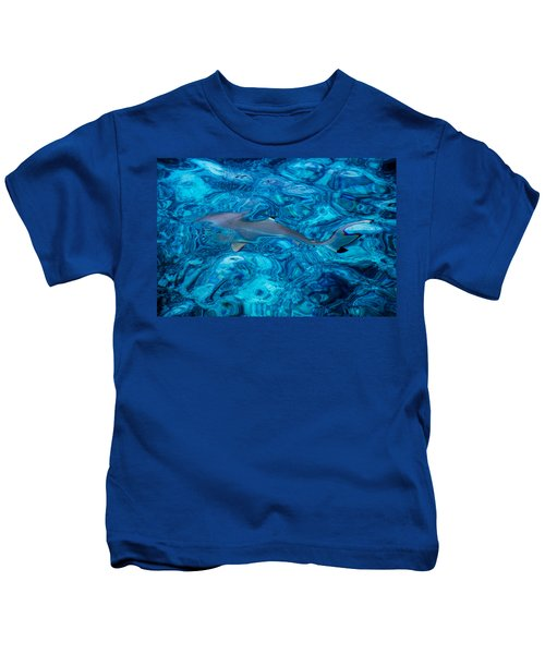 Baby Shark In The Turquoise Water. Production By Nature Kids T-Shirt