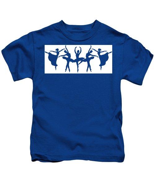 Ballerinas Dancing Silhouettes Kids T-Shirt