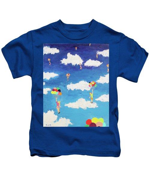 Balloon Girls Kids T-Shirt