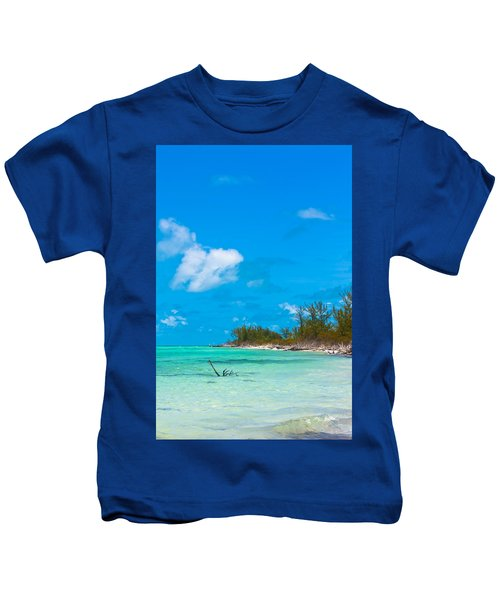 Beach At North Bimini Kids T-Shirt