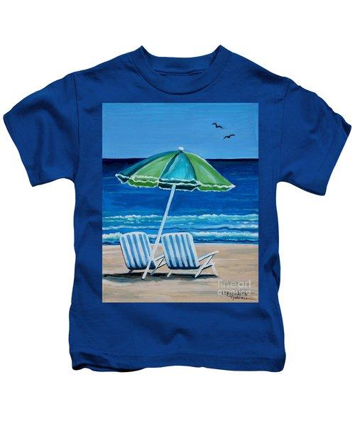 Beach Chair Bliss Kids T-Shirt