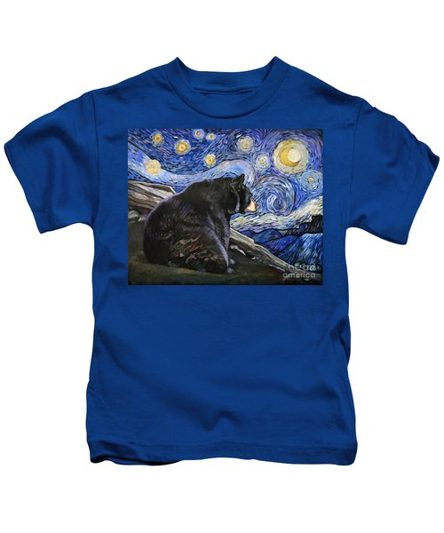 Beary Starry Nights Kids T-Shirt