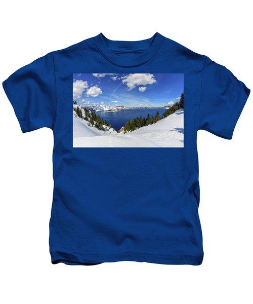 Beautiful Crater Lake Kids T-Shirt