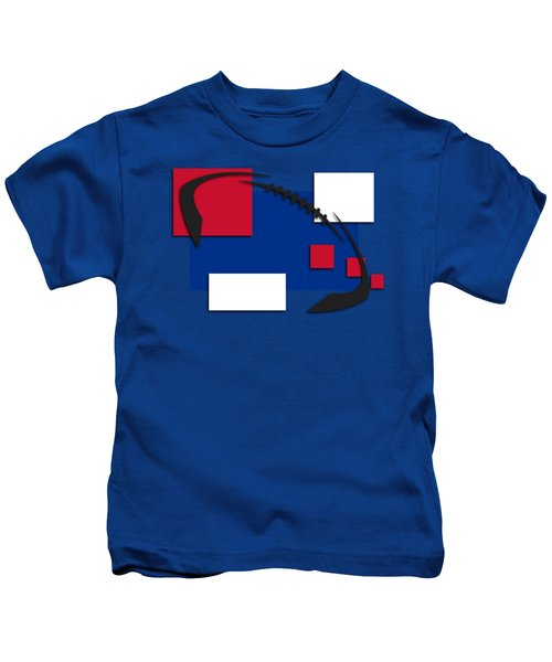 Bills Abstract Shirt Kids T-Shirt by Joe Hamilton