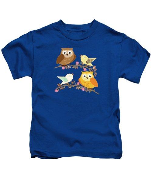 Birds And Owls Kids T-Shirt