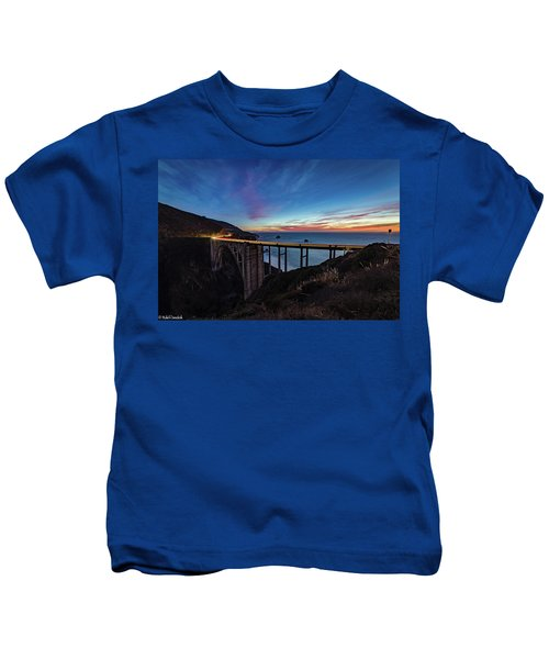 Bixby Bridge Sunset Kids T-Shirt