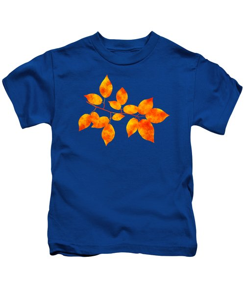 Black Cherry Pressed Leaf Art Kids T-Shirt