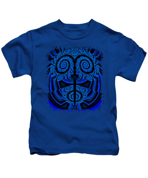 Blue And Black Mask 2 Kids T-Shirt