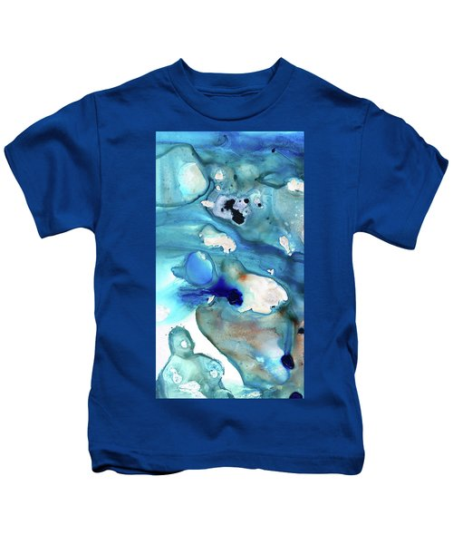 Blue Art - The Meaning Of Life - Sharon Cummings Kids T-Shirt