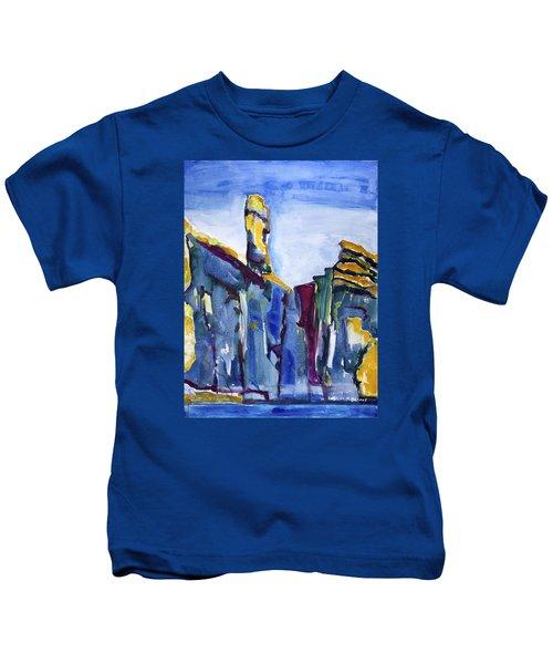 Blue Cliffs, Sea And Sky Kids T-Shirt