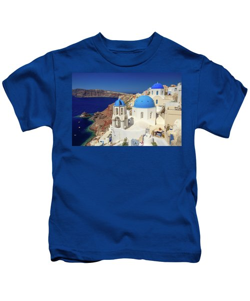 Blue Domed Churches Kids T-Shirt