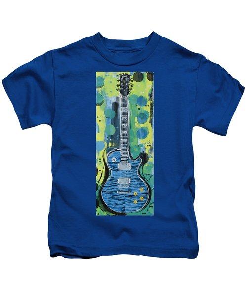 Blue Gibson Guitar Kids T-Shirt