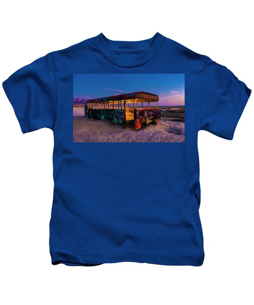 Blue Hour Bus Kids T-Shirt