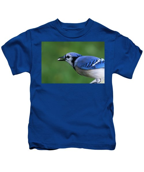 Blue Jay With Seed Kids T-Shirt