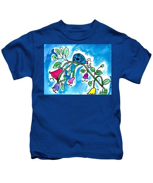 Blue Ladybug Kids T-Shirt