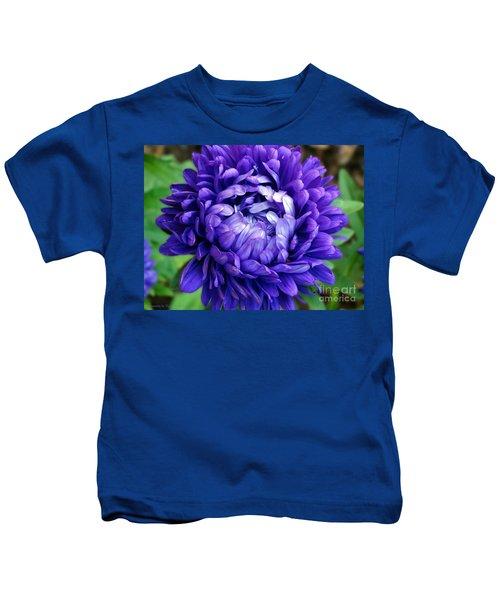 Blue Petals Kids T-Shirt
