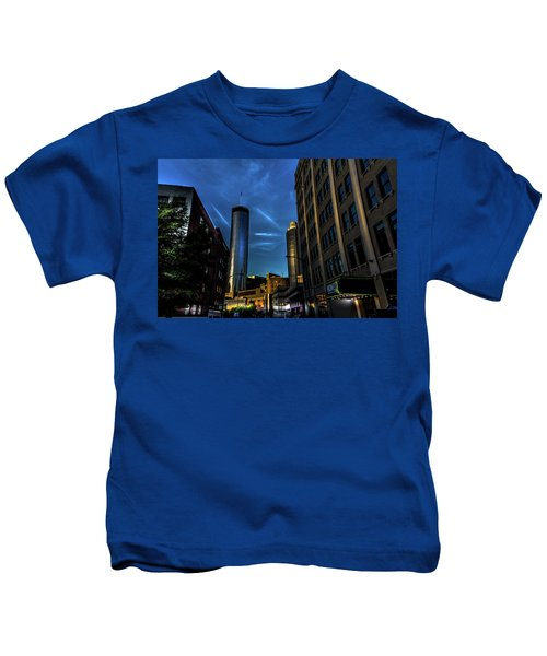 Blue Skies Above Kids T-Shirt