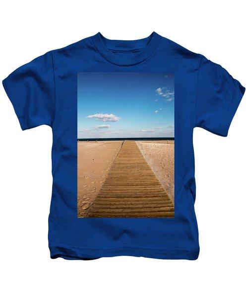 Boardwalk To The Ocean Kids T-Shirt