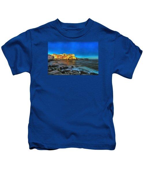 Boccadasse Beach On An Autumn Bright Sunny Day Kids T-Shirt
