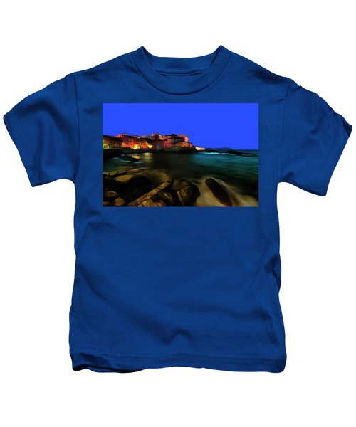 Boccadasse By Night Paint Kids T-Shirt