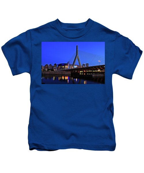 Boston Garden And Zakim Bridge Kids T-Shirt