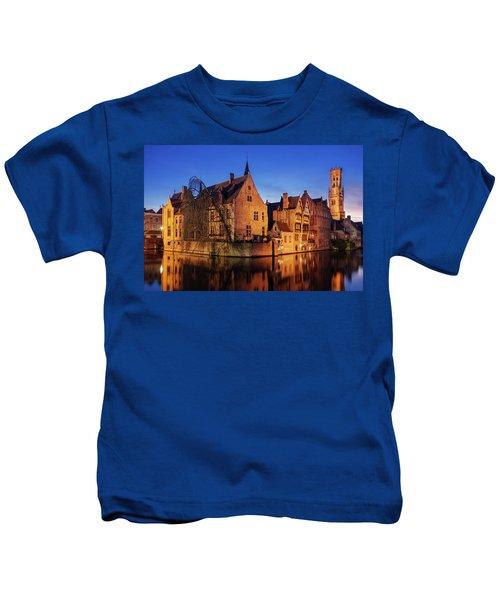 Bruges Architecture At Blue Hour Kids T-Shirt