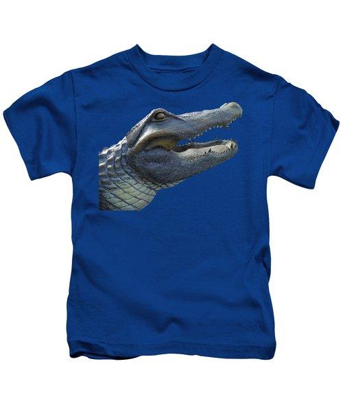 Bull Gator Portrait Transparent For T Shirts Kids T-Shirt