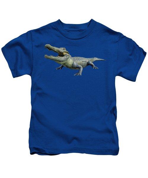 Bull Gator Transparent For T Shirts Kids T-Shirt by D Hackett