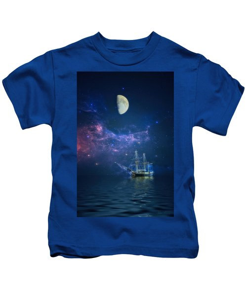 By Way Of The Moon And Stars Kids T-Shirt