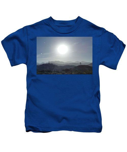 Cajon Pass Sunset Kids T-Shirt