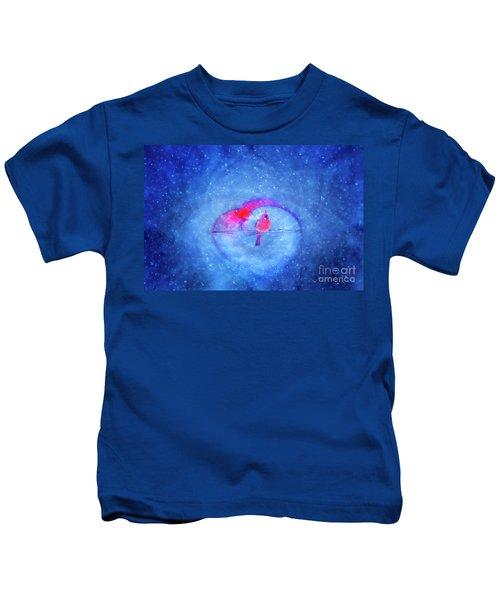 Cardinal In A Heart Kids T-Shirt