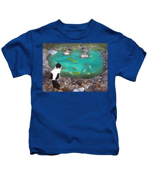 Cats And Koi Kids T-Shirt