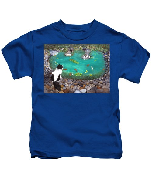 Cats And Koi Kids T-Shirt