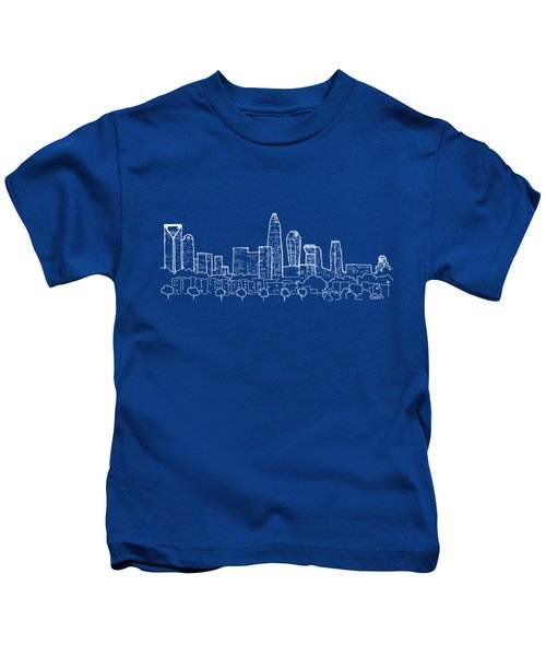 Charlotte Nc View From The East Kids T-Shirt