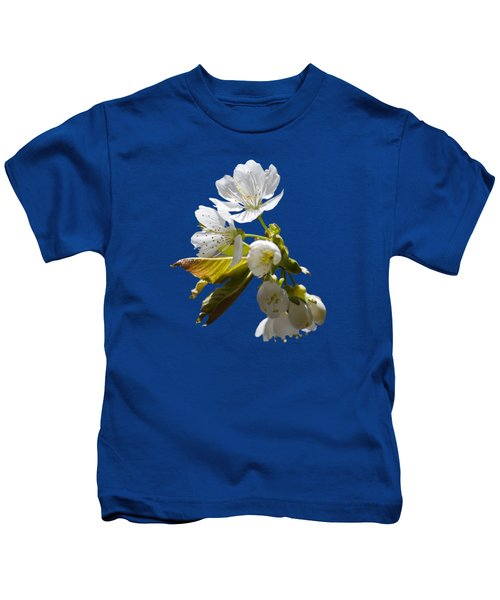 Cherry Blossoms Kids T-Shirt by Christina Rollo