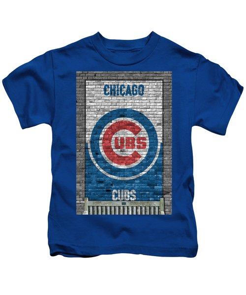 Chicago Cubs Brick Wall Kids T-Shirt
