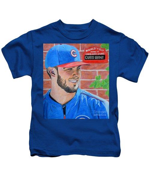 Chicago Cubs Kris Bryant Portrait Kids T-Shirt