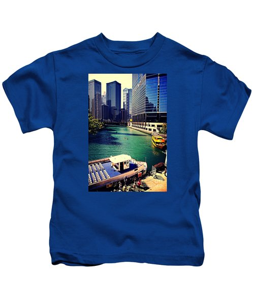 City Of Chicago - River Tour Kids T-Shirt