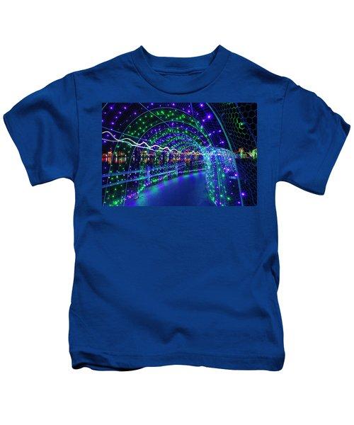 Christmas Lights In Tunnel At Lafarge Lake Kids T-Shirt