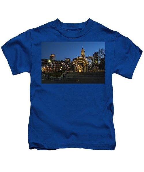 Christopher Columbus Park Boston Ma Trellis Custom House Kids T-Shirt