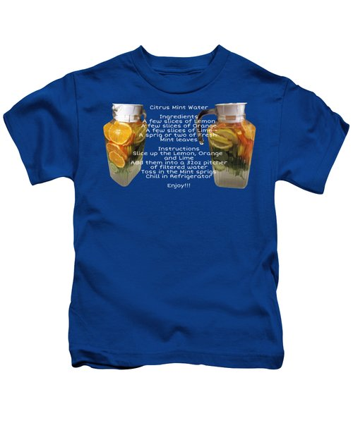 Citrus Mint Water Kids T-Shirt