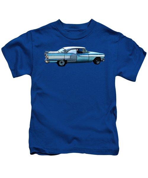 Classic Blue Motor Art Kids T-Shirt