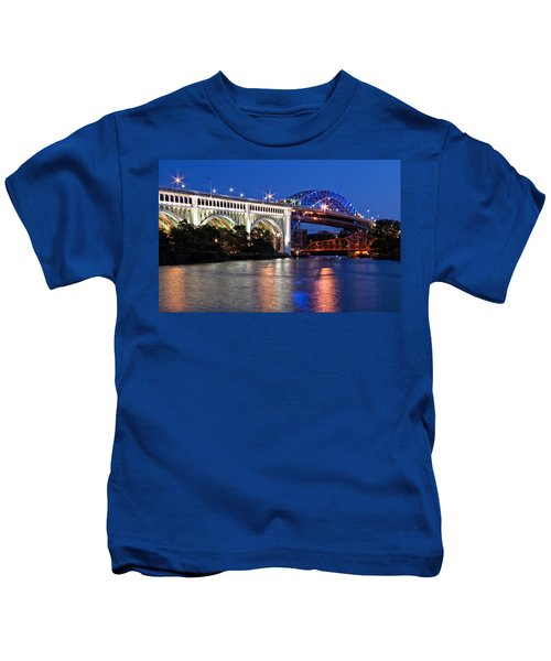 Cleveland Colored Bridges Kids T-Shirt