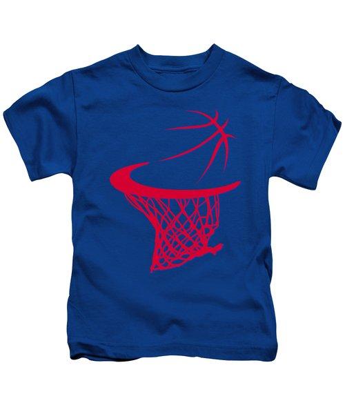 Clippers Basketball Hoop Kids T-Shirt