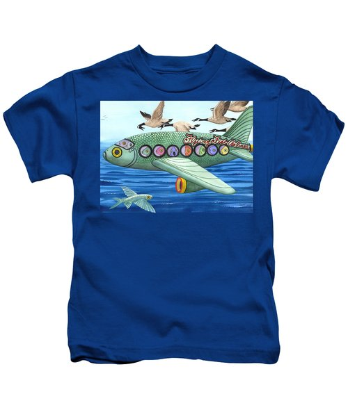Cod Is My Co-pilot Kids T-Shirt