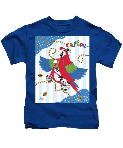 Coffee Parrot Kids T-Shirt