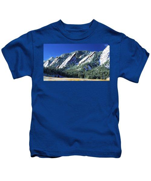All Five Colorado Flatirons Kids T-Shirt